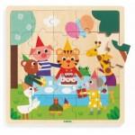 Djeco-01815 Puzzle Cadre en Bois - Puzzlo Happy