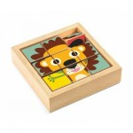 Djeco-01953 Puzzle en Bois - Tournanimo