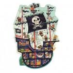 Djeco-07129 Puzzle Géant - Le Bateau des Pirates