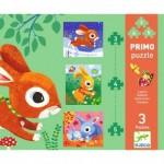 Djeco-07140 3 Puzzles Evolutifs - Lapins