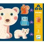Djeco-07143 3 Puzzles Evolutifs - Dans la Forêt