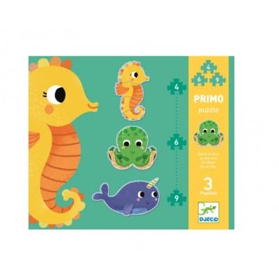 Djeco-07144 Primo Puzzle - Dans la Mer
