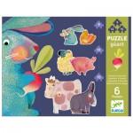 Djeco-07145 6 Puzzles Evolutifs - Pissenlit & ses Amis
