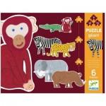 Djeco-07147 6 Puzzles - Henri & ses Amis