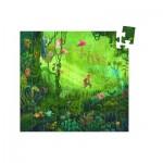 Djeco-07244 Puzzle silhouette - 54 pièces - Château romantique