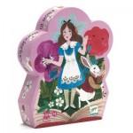 Djeco-07260 Puzzle Silhouette - Alice aux Pays des Merveilles