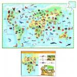 Djeco-07420 Poster et livret : Les animaux du monde