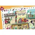 Djeco-07453 Puzzle Observation - Streetart