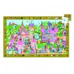 Djeco-07556 Poster et jeu d'observation : Princesse
