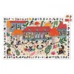Djeco-07595 Puzzle Observation - L'Ecole des Hérissons