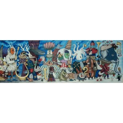 Djeco-07626 Puzzles Gallery - Fantasy Orchestra