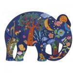 Djeco-07652 Puzz'Art - Eléphant