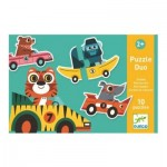 Djeco-08148 10 Puzzles Duo Bolides