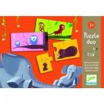 Djeco-08157 Puzzle 10 x 2 pièces - Duo Maman et bébé