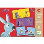 Djeco-08162 12 Puzzles - Duo Contraires
