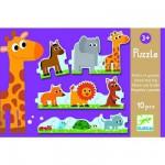 Djeco-08167 Puzzle 10 pièces : Petits et grands