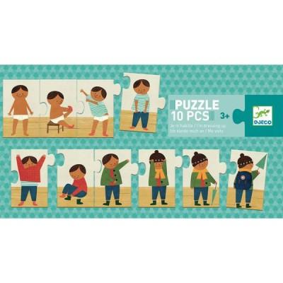 Djeco-08178 Puzzle Je m'habille