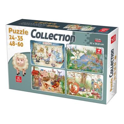 Deico-Games-76526 4 Puzzles - Animaux