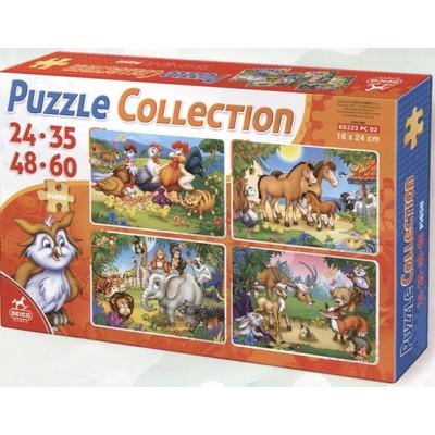 Deico-Games-76571 4 Puzzles - Animaux