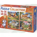 Deico-Games-76571 4 Puzzles - Animaux