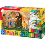 Dtoys-50380-PC-07 Color Me : Hansel et Gretel + 2 dessins à colorier