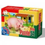 Dtoys-60464-AD-04 Mini Puzzle : Cochon