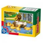 Dtoys-60464-AD-08 Mini Puzzle : Canard et ses cannetons