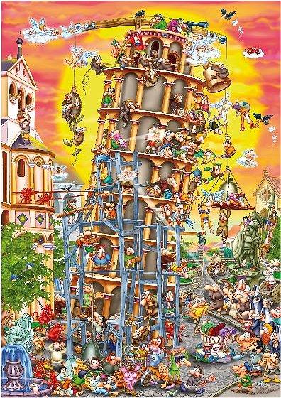 Dtoys-61218 Cartoon Collection - Tour de Pise