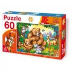 Dtoys-61478 La famille ours avec les animaux de la forêt