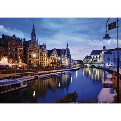DToys-64301-NL03 Paysages nocturnes - Belgique : Gand