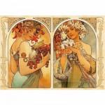 DToys-66930-MU06 Mucha Alphonse - Fruit et Fleur