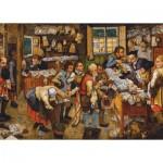 Dtoys-66947-BR06-(74942) Brueghel Pieter le Jeune : Le Paiement de la Dîme, 1617-1622