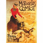 DToys-67555-VP02-(69634) Poster vintage - Motocycles Comiot, Paris