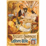 DToys-67555-VP05 Poster Vintage - Biscuits Champagne Lefevre-Utile