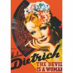 Dtoys-69559 Poster vintage - Marlene Dietrich, The Devil is a Woman