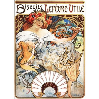 Dtoys-70098 Mucha Alphonse - Biscuits Lefèvre-Utile