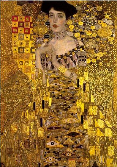 Dtoys-70128 Klimt Gustav - Adele Bloch-Bauer I (détail)