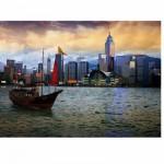DToys-70548 Paysages nocturnes - Hong-Kong : Baie de Hong-Kong