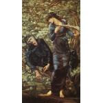 Dtoys-72733-BU02 Edward Burne-Jones: La Séduction de Merlin, 1872-1877