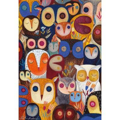 Dtoys-74508 Kurti Andi - Collage - Hiboux