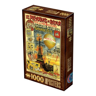 Dtoys-74591 Vintage Poster - Paris
