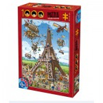 Dtoys-74683 Cartoon Collection - Construction de la Tour Eiffel