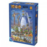 Dtoys-74690 Cartoon Collection - Construction du Burj Al Arab
