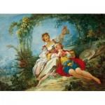 Dtoys-74997 Jean-Honoré Fragonard: Happy Lovers