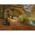 Dtoys-75093 Hans Andersen Brendekilde: A Wooded Path in Autumn