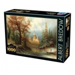 Dtoys-75697 Albert Bredow - Romantic Winter Landscape