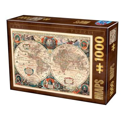 Dtoys-75710 Carte du Monde Antique