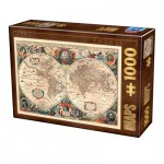 Dtoys-75710 Carte du Monde Antique