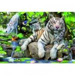 Educa-14808 Tigres blancs du Bengale