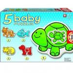 Educa-14864 5 Puzzles Baby - Les animaux de compagnie